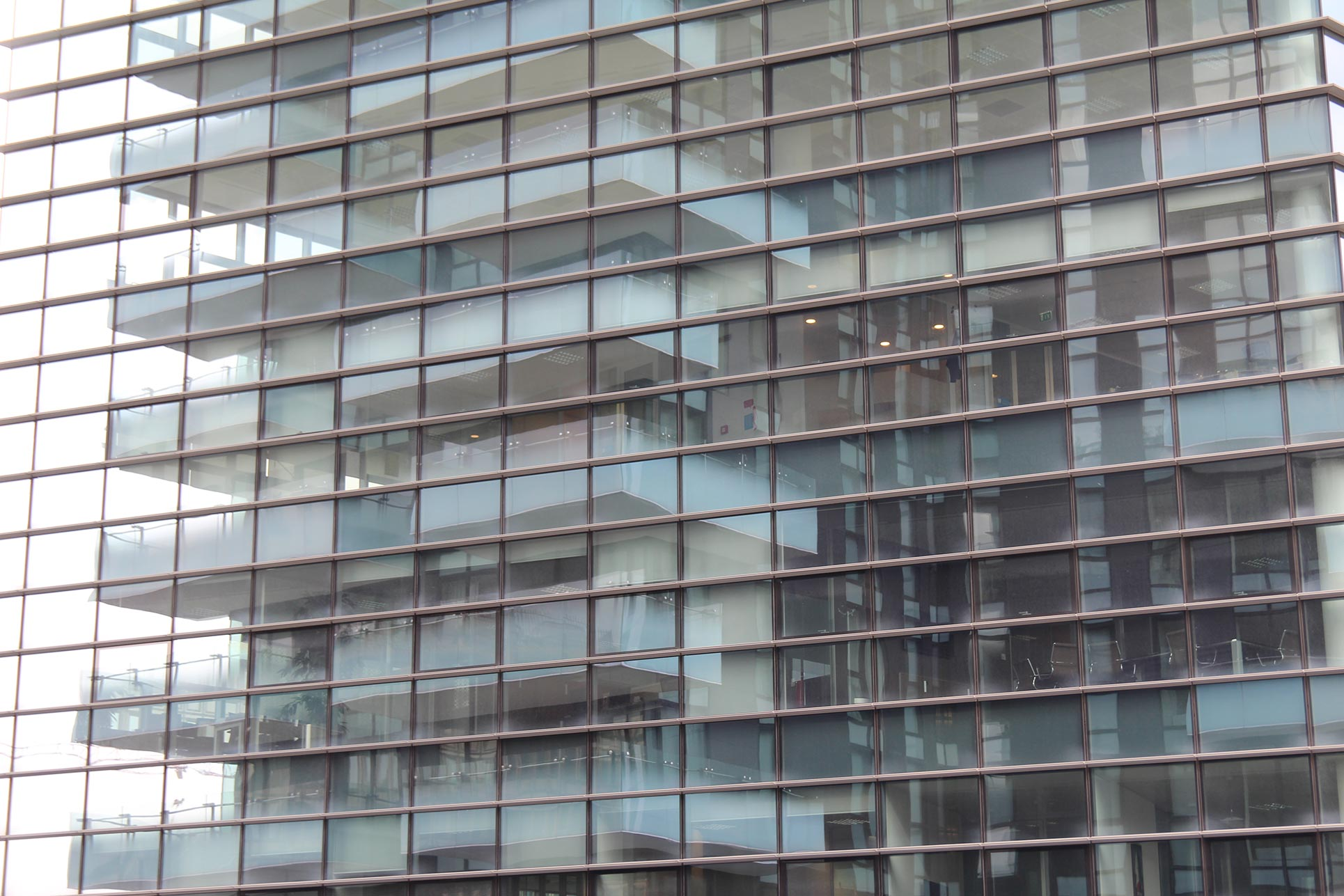 The Solaria tower reflected in a building beside, 2012, Arquitectonica, Miami (Photo: Barbara Fässler)