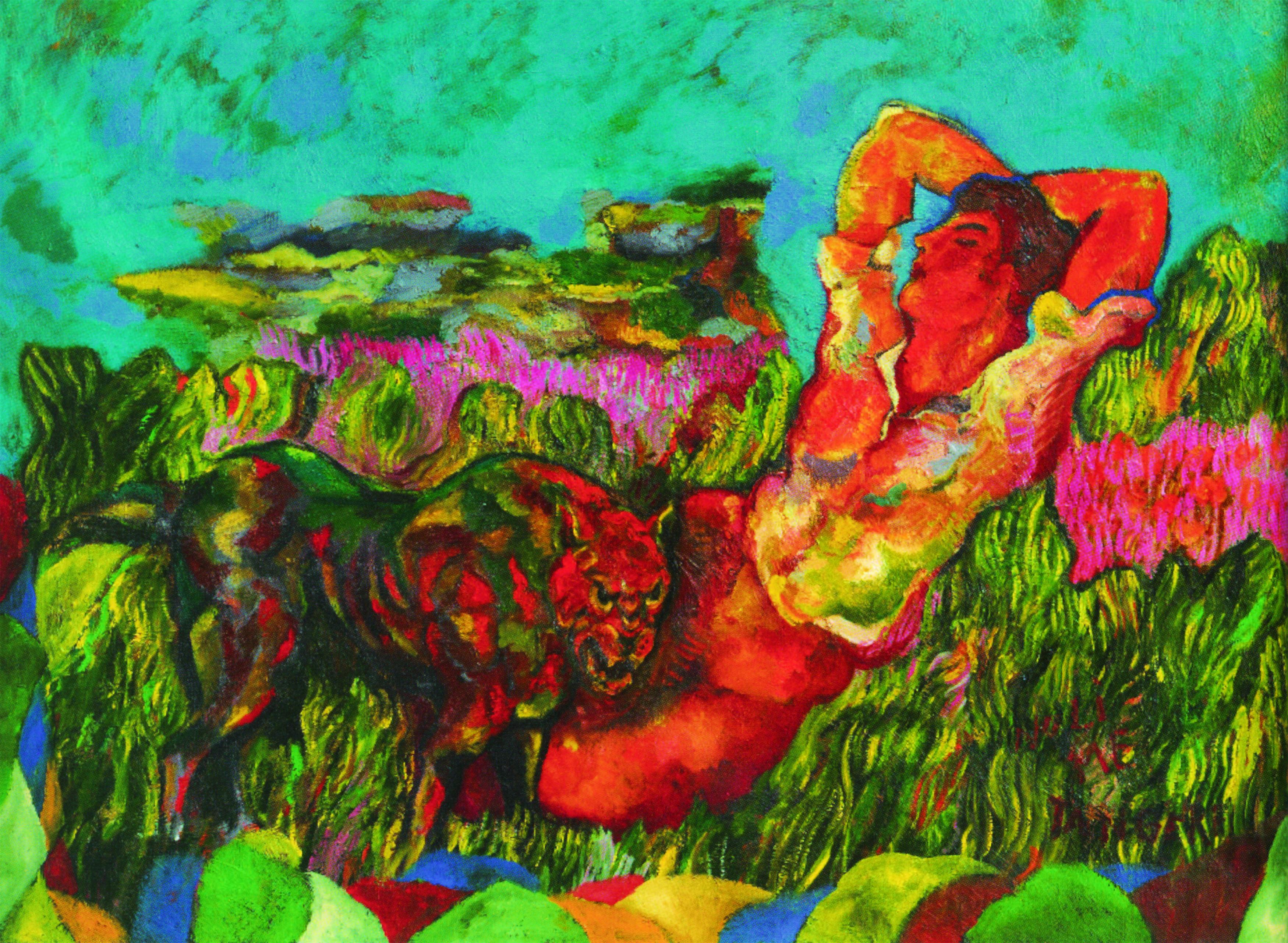 Sandro Chia, Leave the Artist Alone, 1985, Collezione D'Ercole, Roma © Sandro Chia - ProLitteris Zürich / Foto Cosimo Filippini, Lugano