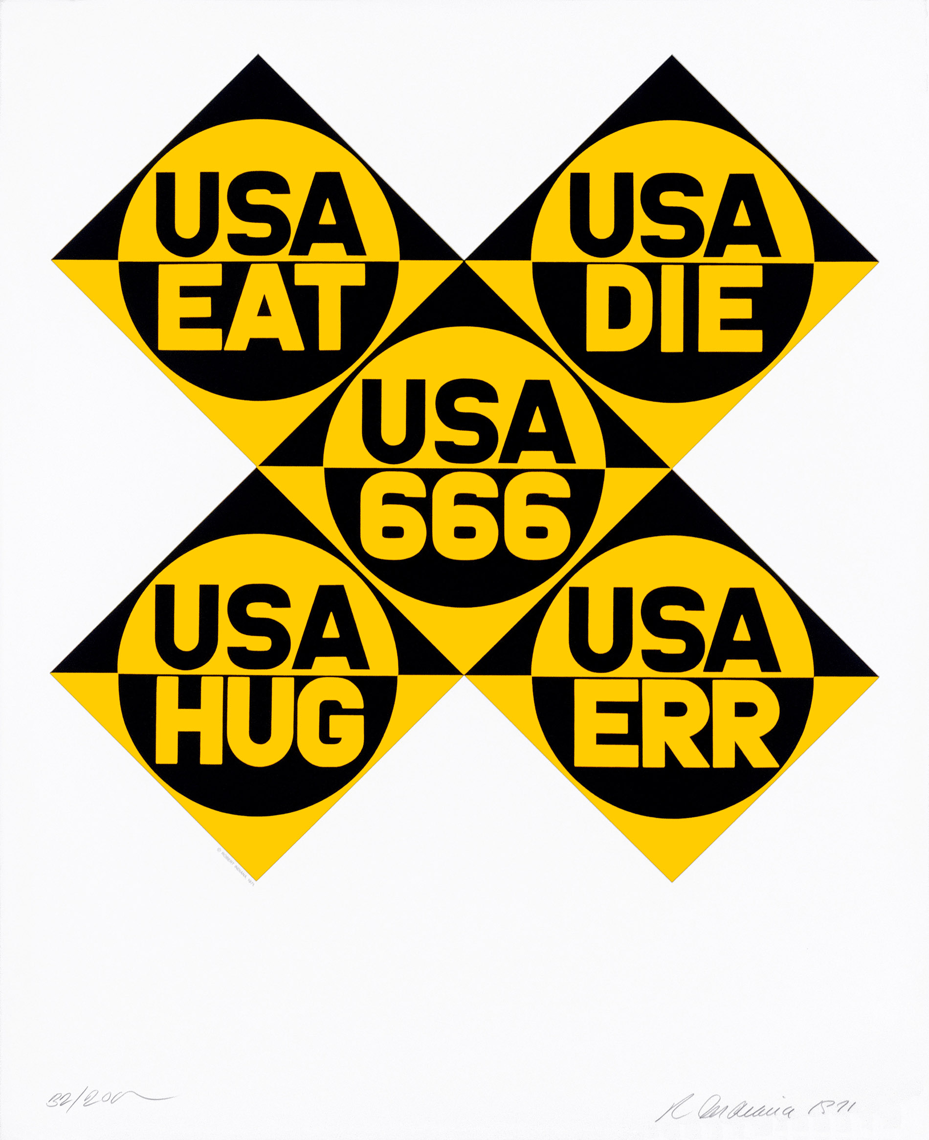 USA 666, 1971, © Robert Indiana Pro Litteris Zürich
