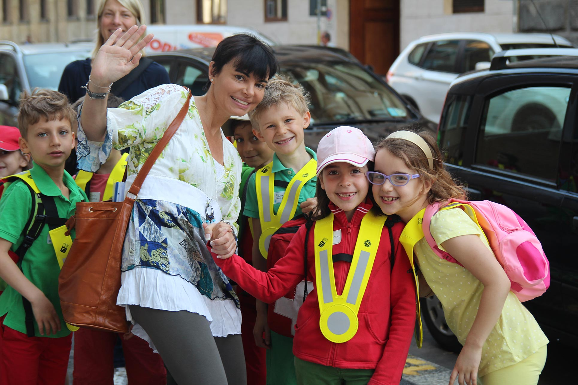 The elementary school on their way to Expo 2015 (Photo: Barbara Fässler)