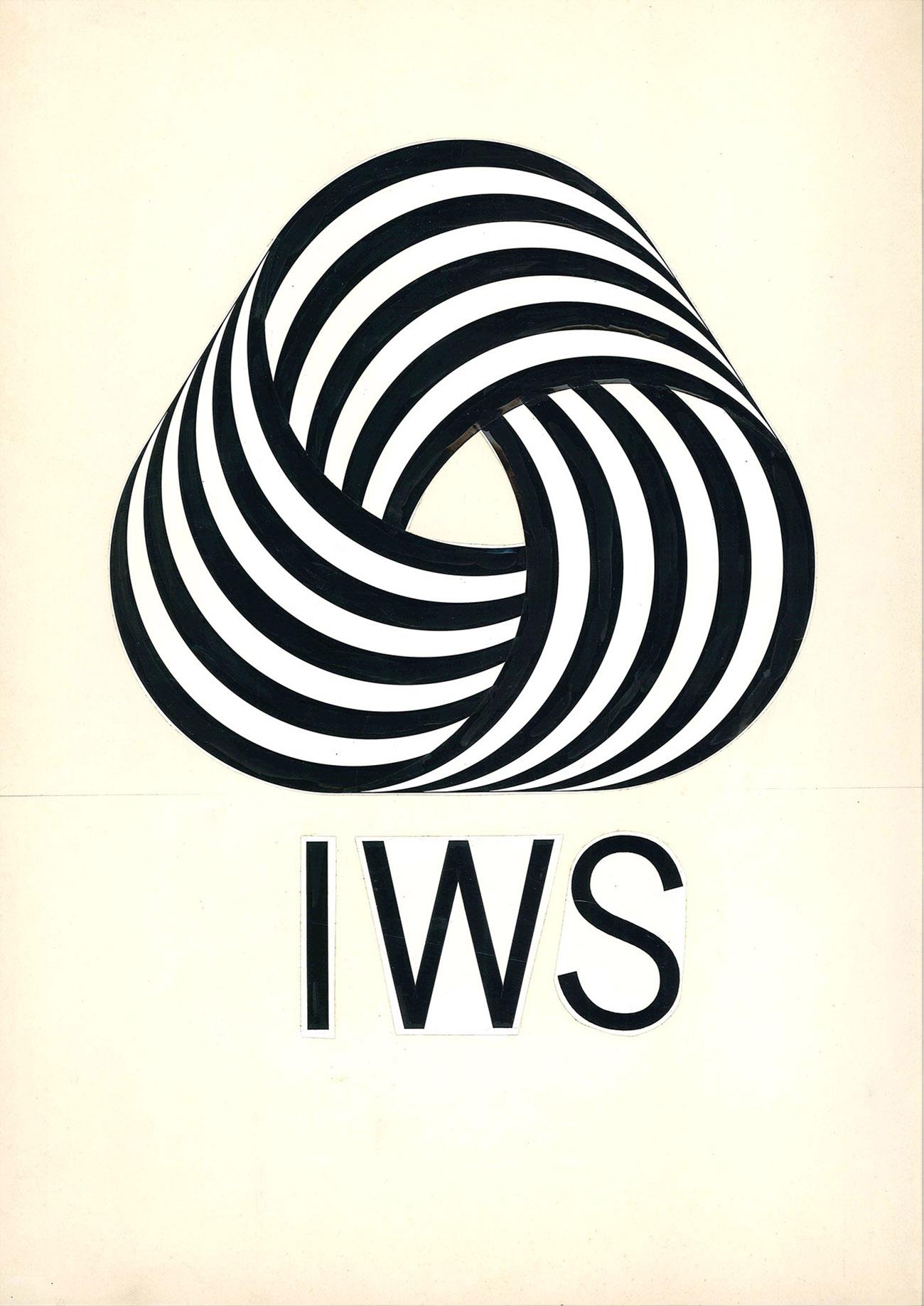 Franco Grignani (1908-1999), Projekt für das Logo Reine Schurwolle, 1963, Archivio privato © Matteo Zarbo