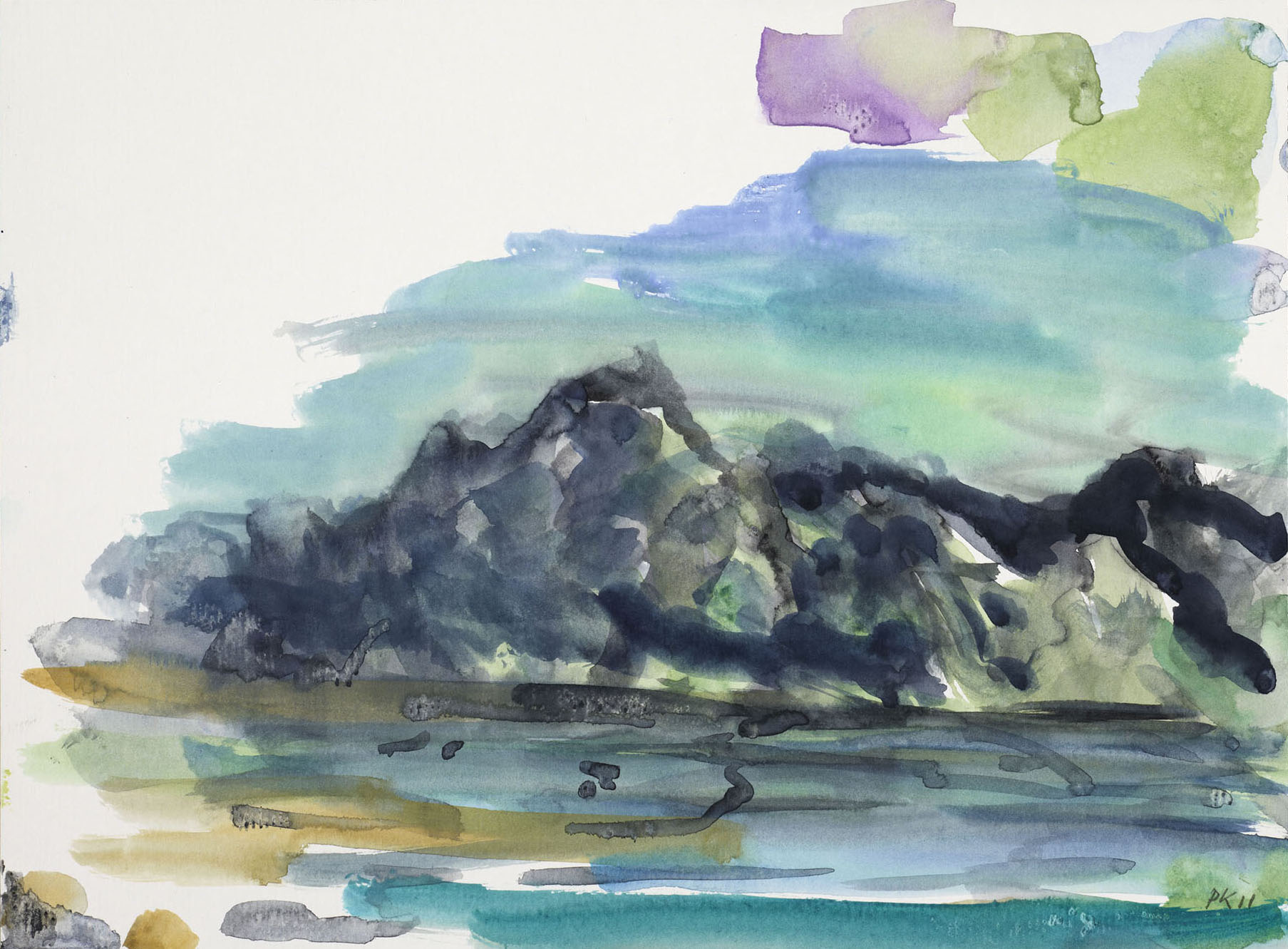 Per Kirkeby, Ohne Titel (Grönland), 2011, Gouache auf Papier