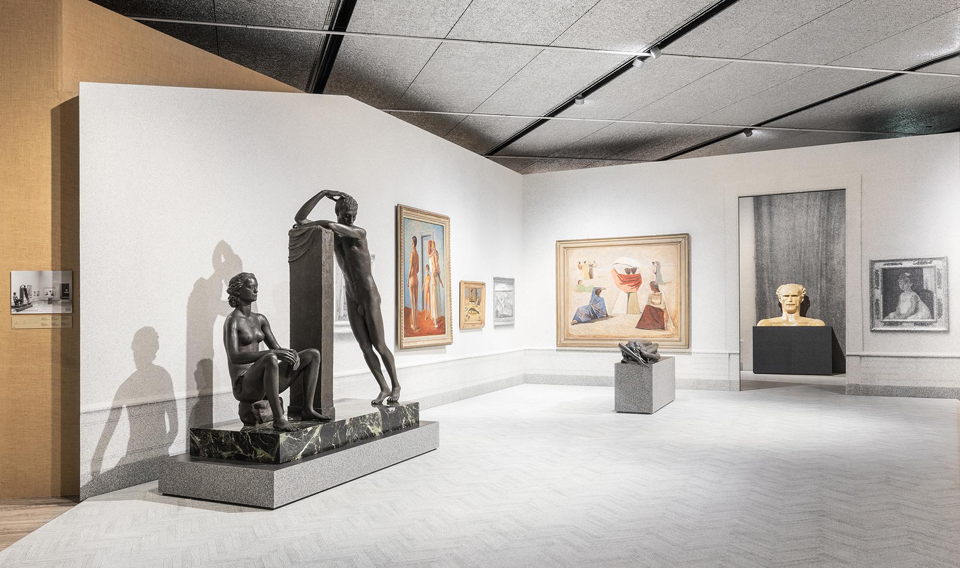 Ausstellungsansicht, Post Zang Tumb Tuuum. Art Life Politics: Italia 1918-1943 (Foto: Delfino Sisto Legnani and Marco Cappelletti), Fondazione Prada, Milano, Courtesy Fondazione Prada