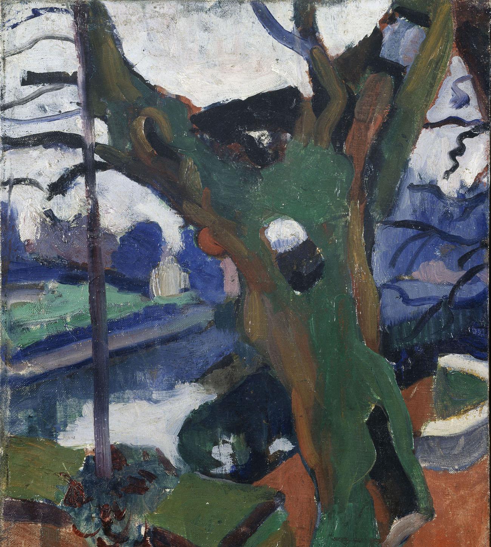 André Derain, Le vieil arbre, 1904, Öl auf Leinwand, Centre Pompidou, Musée national d'art moderne-Centre de création industrielle. © 2020, ProLitteris, Zurich