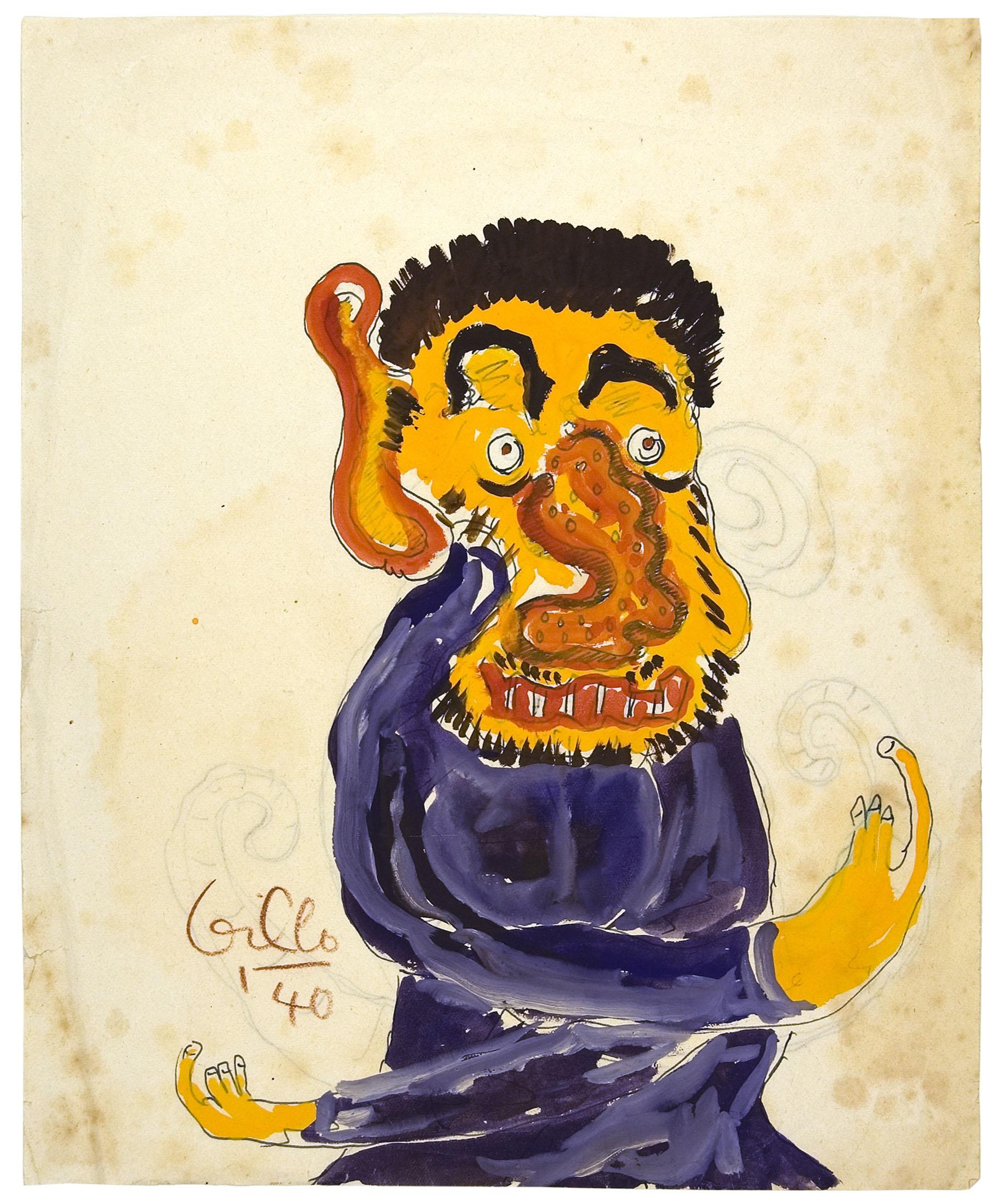Gillo Dorfles, Matto, 1940, Tempera und Tusche auf Papier, 27,5 x 22 cm Privatsammlung, Mailand