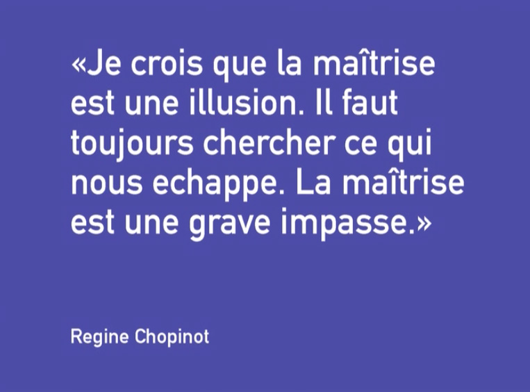 Quote Regine Chopinot about Dance, videostill