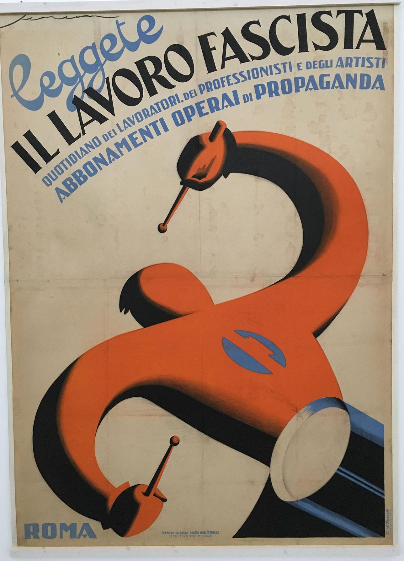 Federico Seneca: Poster ‹Leggete Il lavoro fascista›, 1929 (Foto Barbara Fässler)