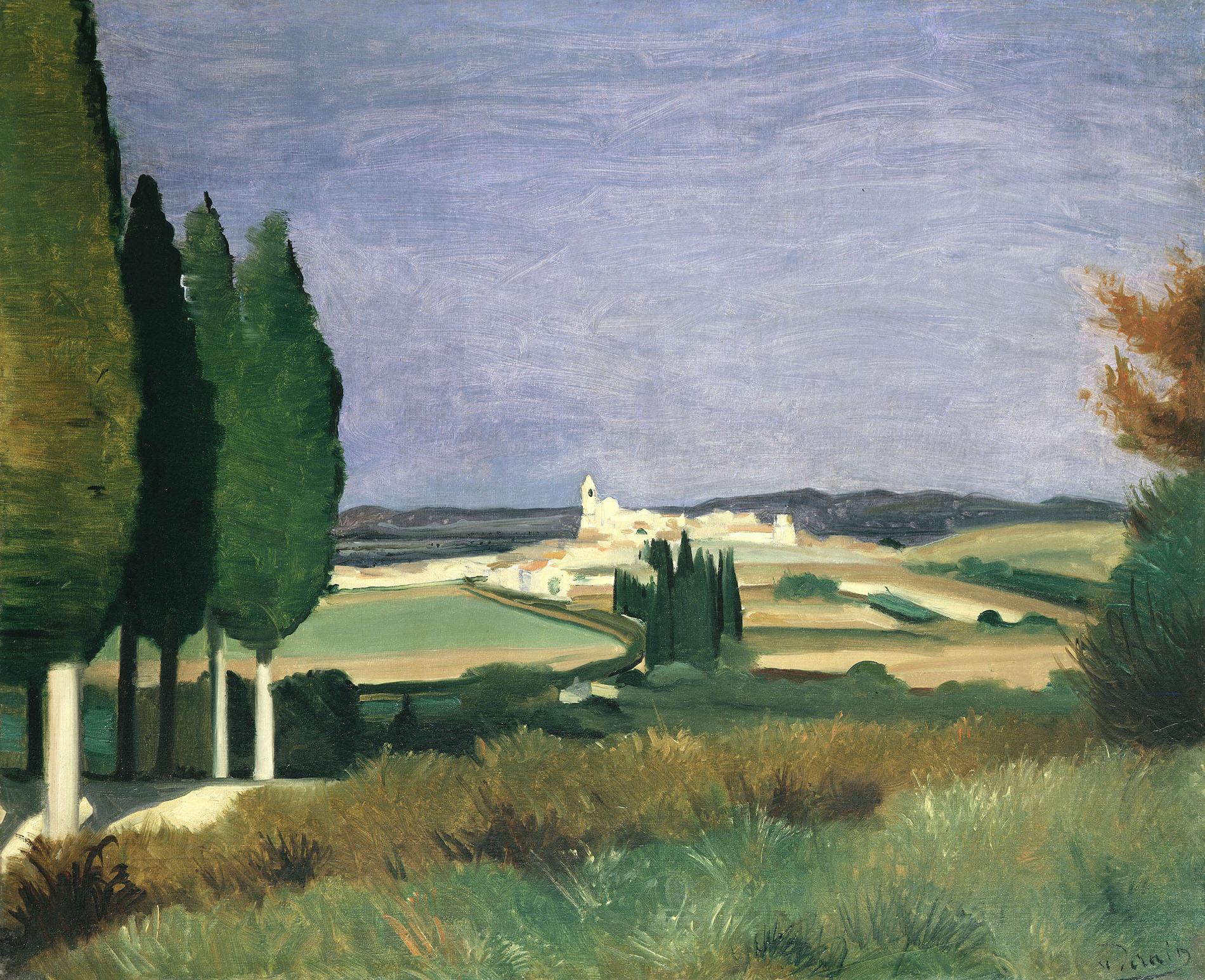 André Derain, Paysage de Provence, 1930, Öl auf Leinwand, Privatsammlung. © 2020, ProLitteris, Zurich