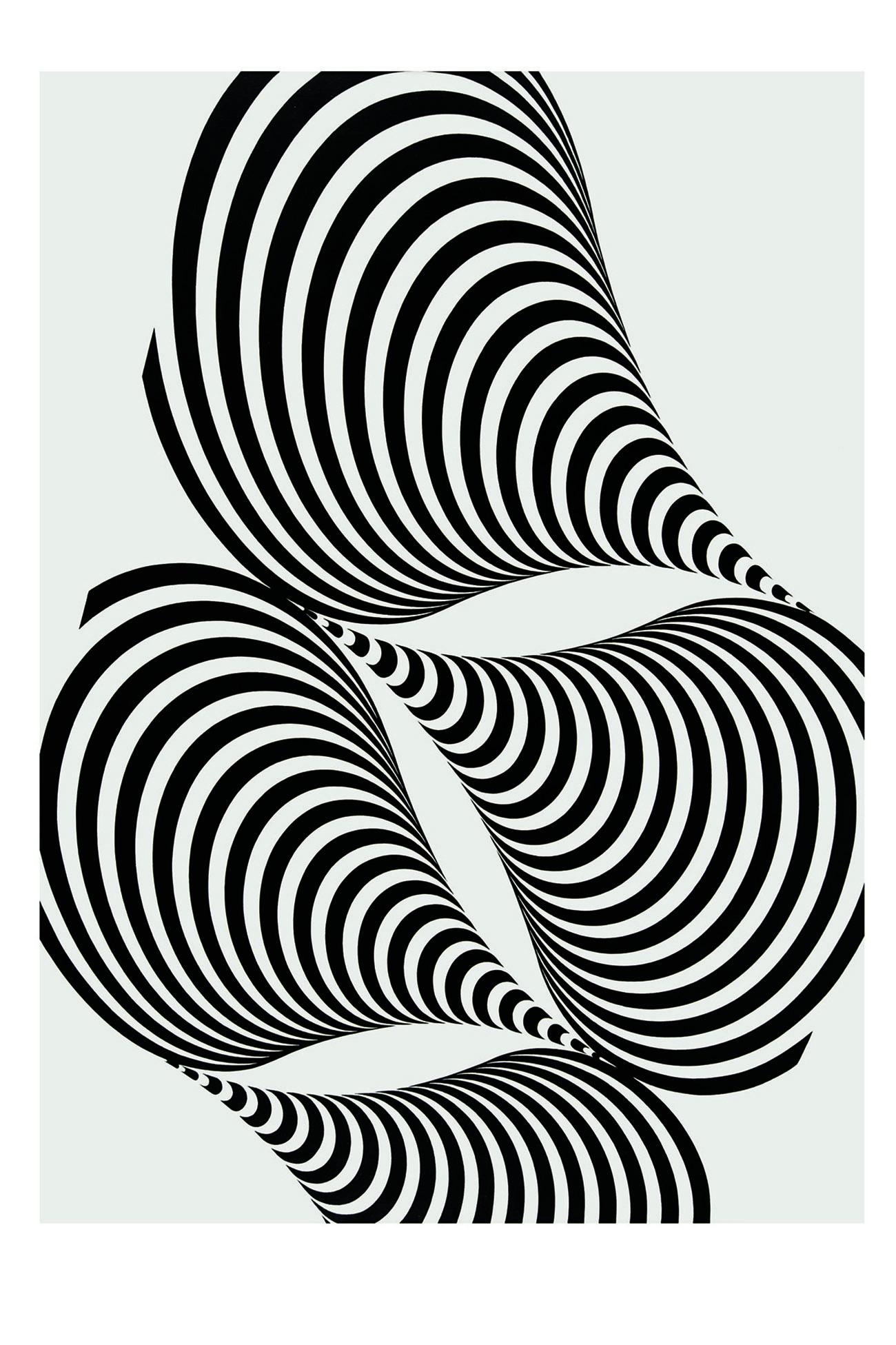 Franco Grignani, Diacronica 2T, 1965, Collezione Lorenzelli Arte © Archivio Lorenzelli Arte, Milano