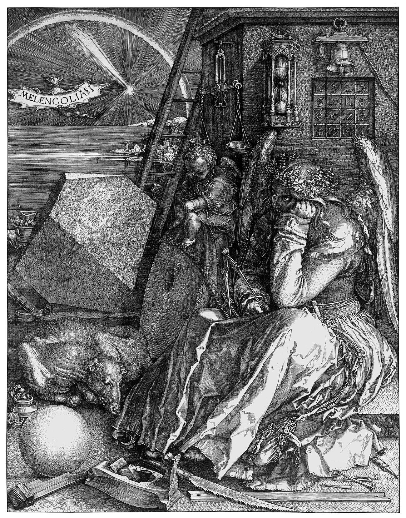 Albrecht Dürer, Melencolia I, 1514, Stich National Gallery London, Courtesy Otto Schäfer Stiftung der Stadt Schweinfurt