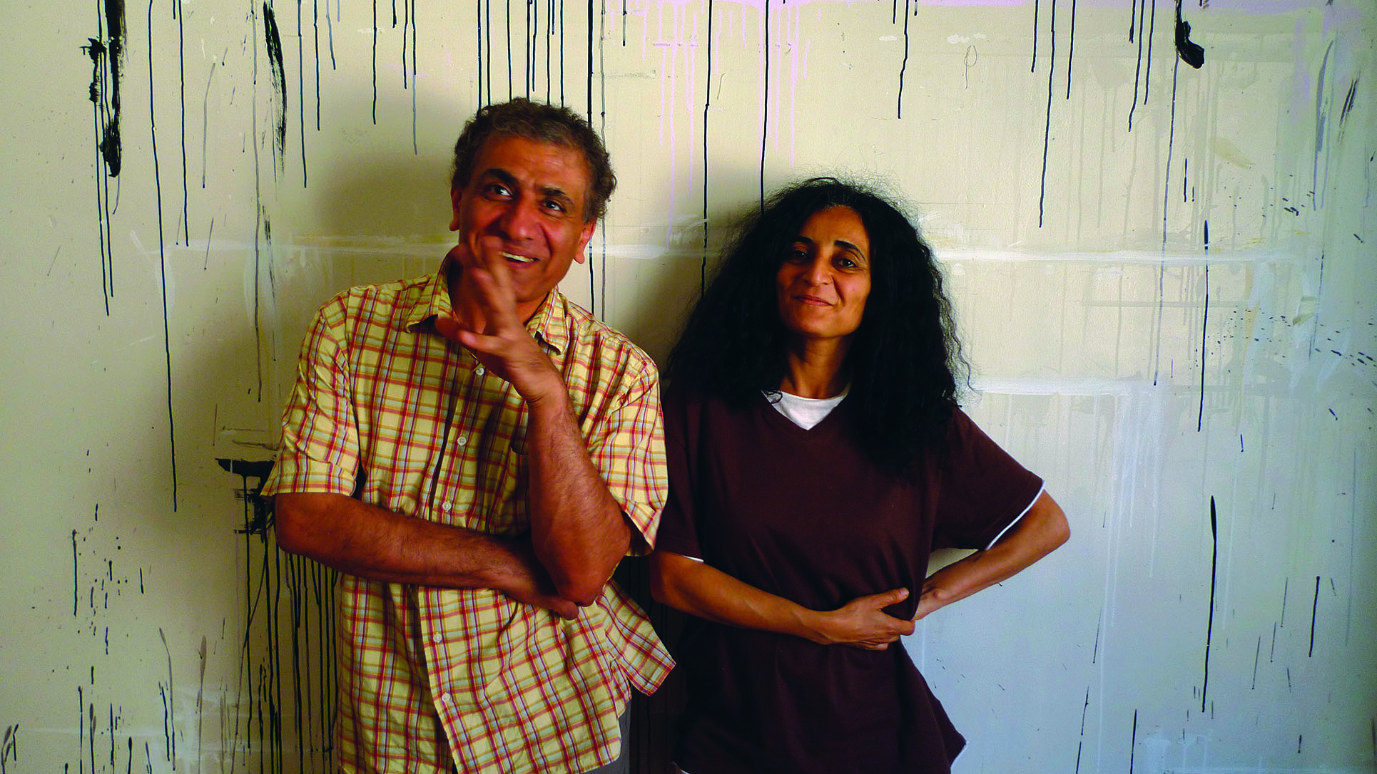 Ghada Amer and Reza Farkhondeh (Photo: Barbara Fässler)