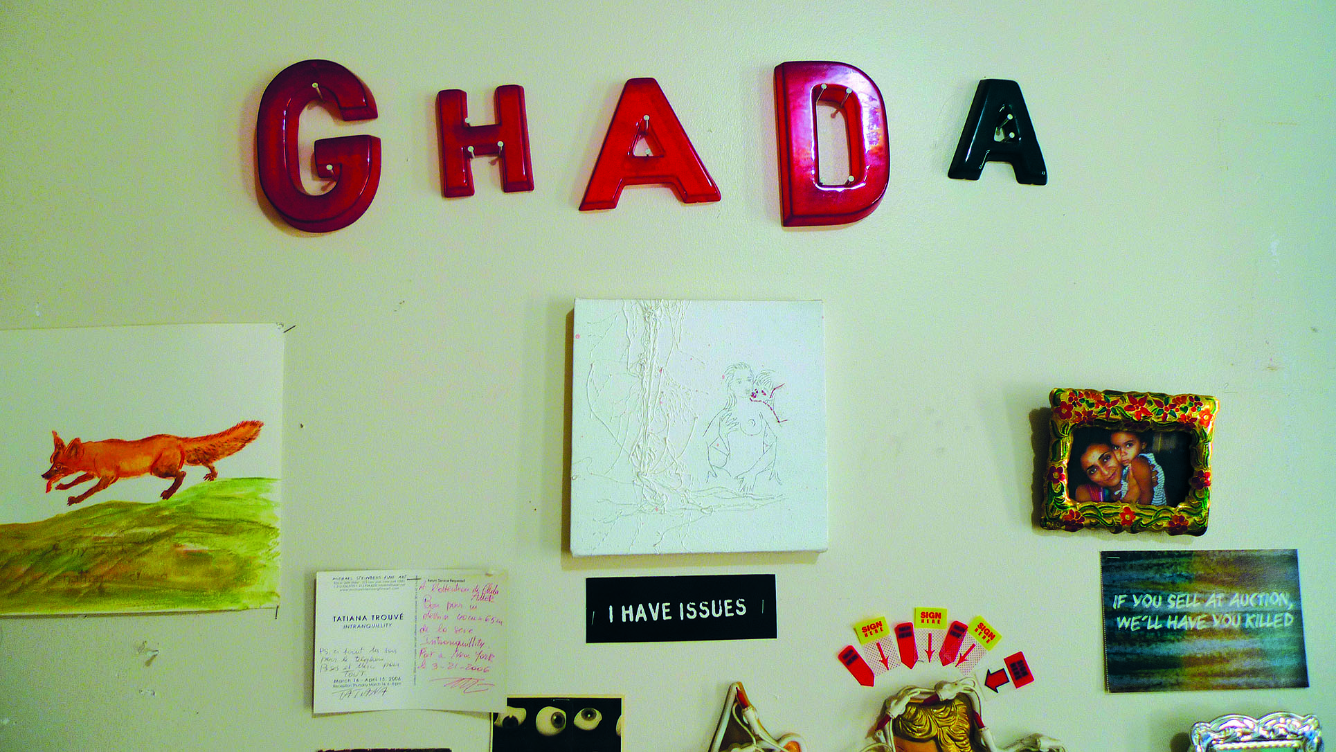 In Ghada Amer's studio in New York (Photo: Barbara Fässler)