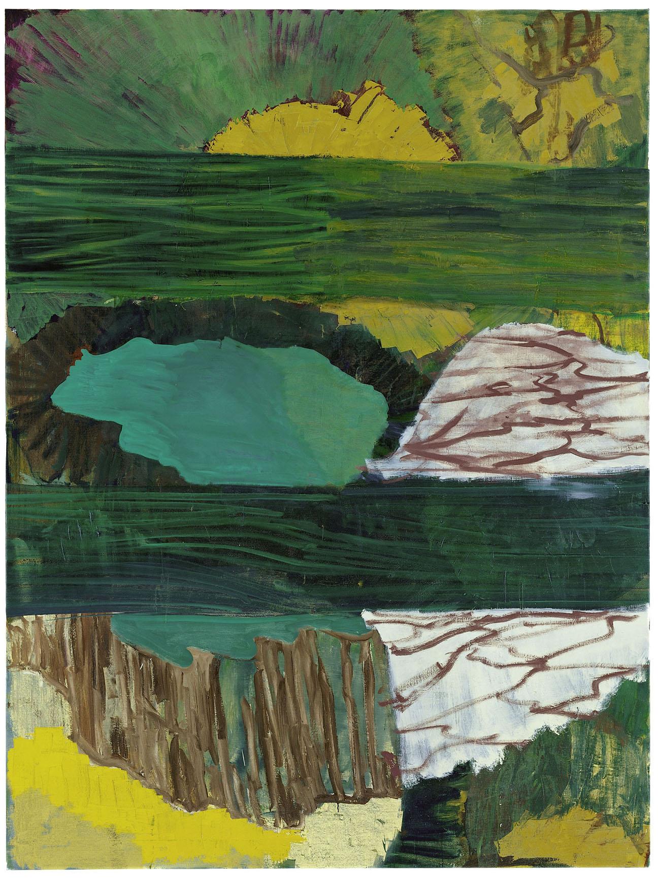 Per Kirkeby, Verkostung, 1999, Öl auf Leinwand