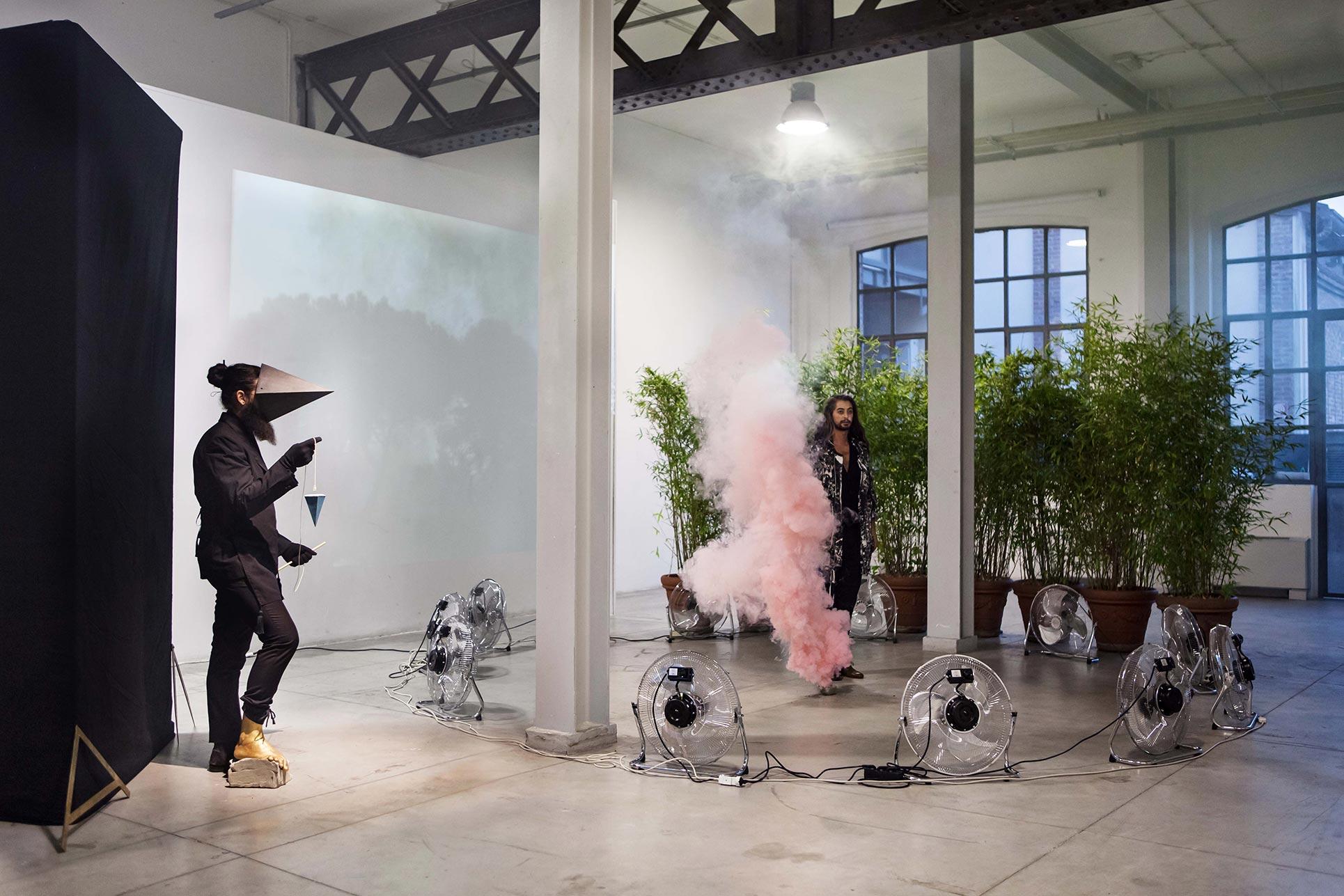 ArTransit, Performance Domenico Billari, Viafarini (Photo: Nicolò Burgassi)