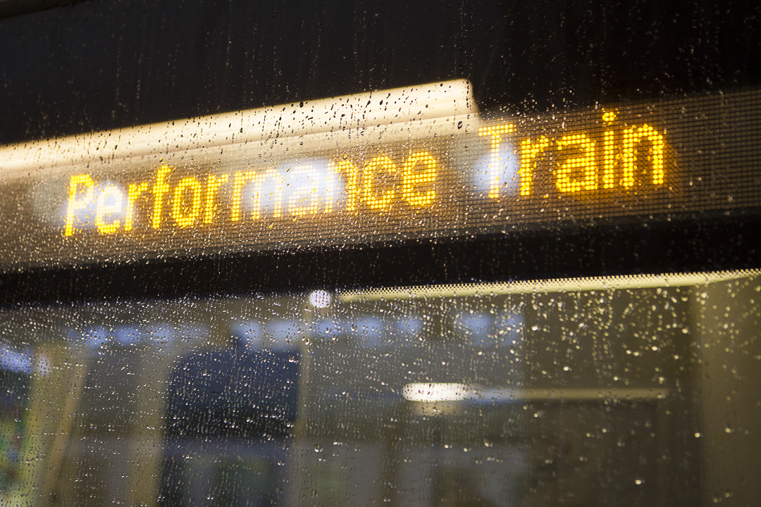 ArTransit, Performance Train, 15th November 2014, travelling from Milan to Zürich (Photo: Carolina Farina)