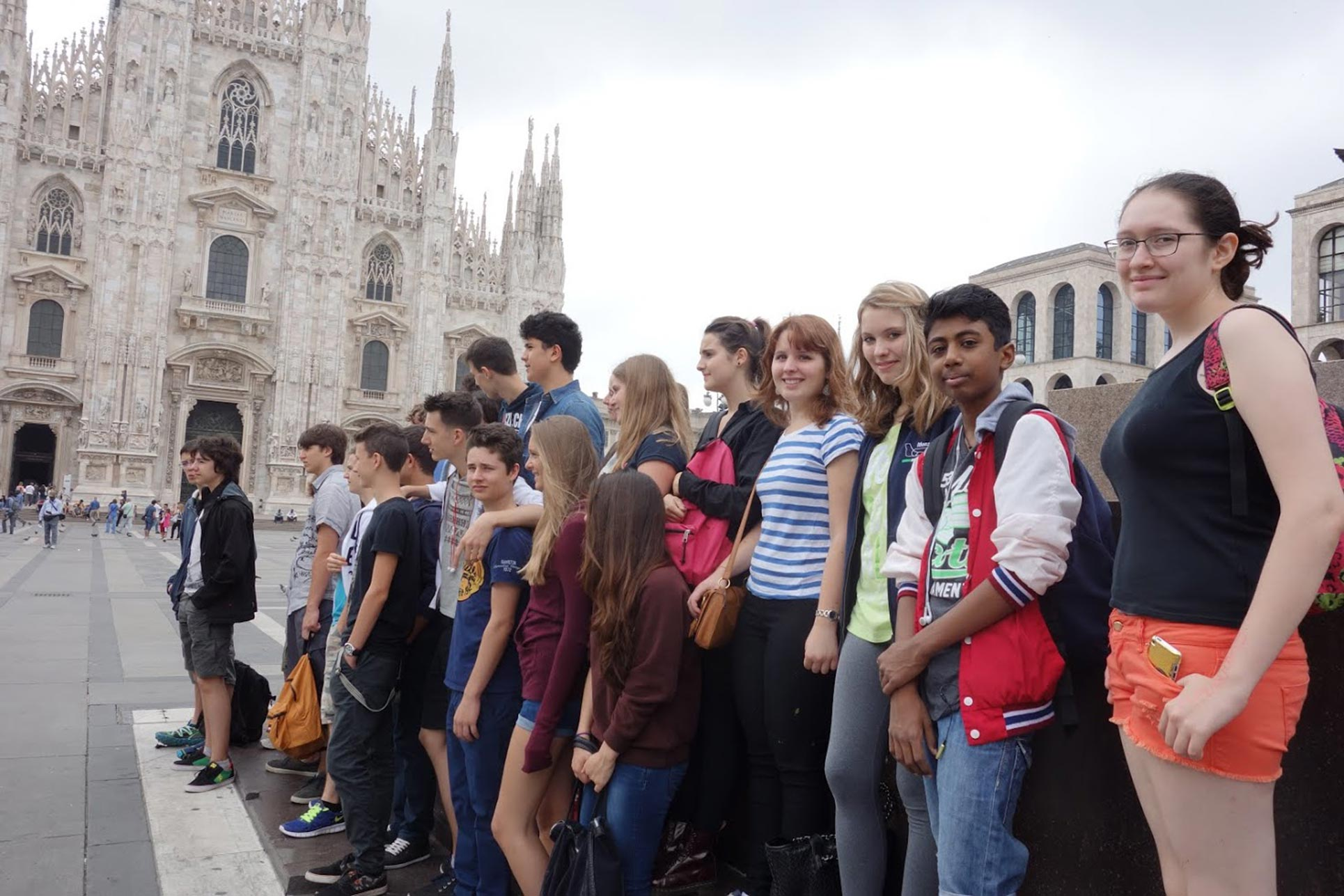 Group picture in front of the Milan Cathedral (Photo: Barbara Fässler)