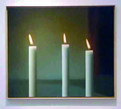 Gerhard Richter, Drei Kerzen, 1982