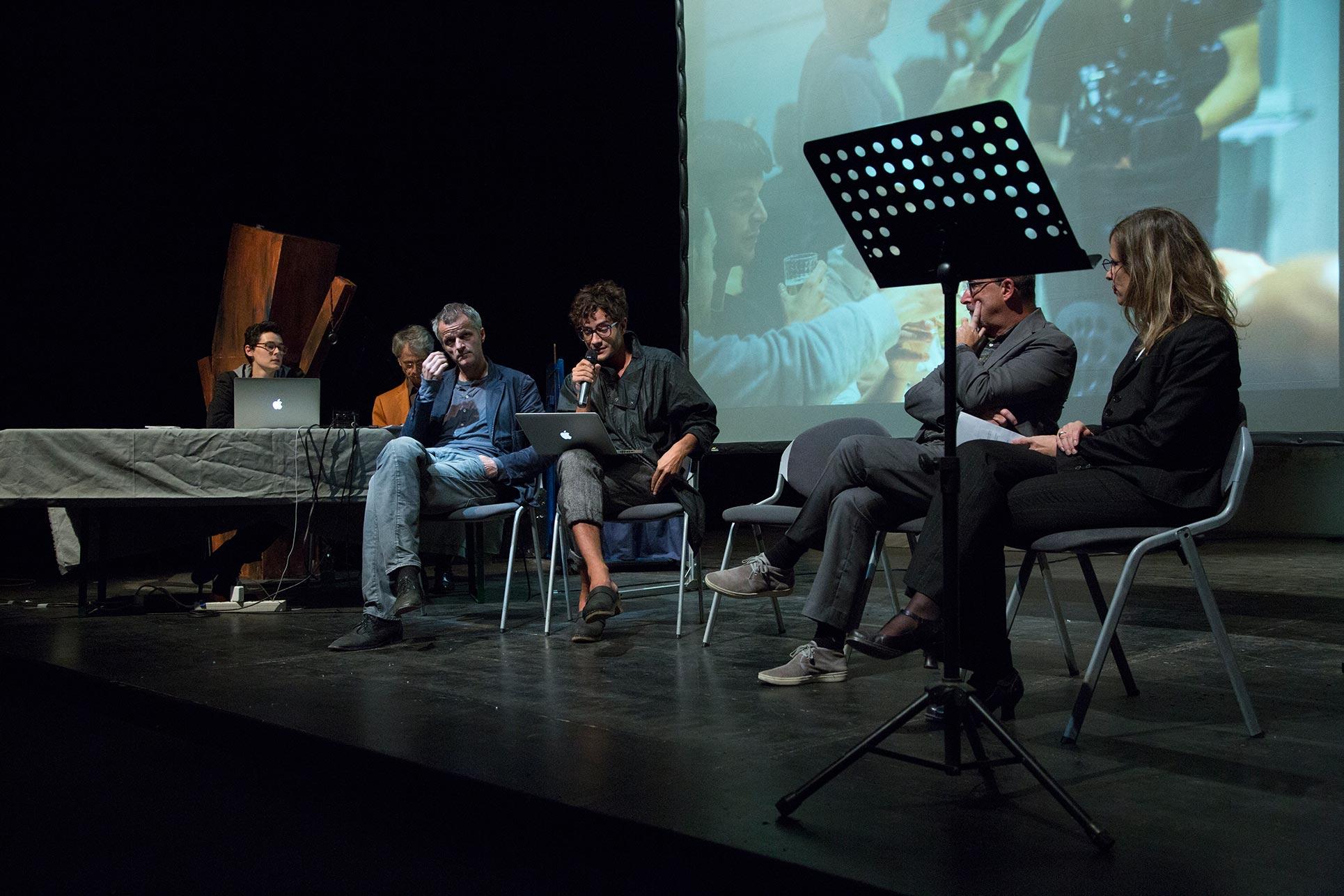 From the left: Giovanna Manzotti, Mino Bertoldo, Heinrich Lüber, Simone Frangi, Domenico Lucchini, Barbara Fässler (Photo: Elena Sconfinetti)
