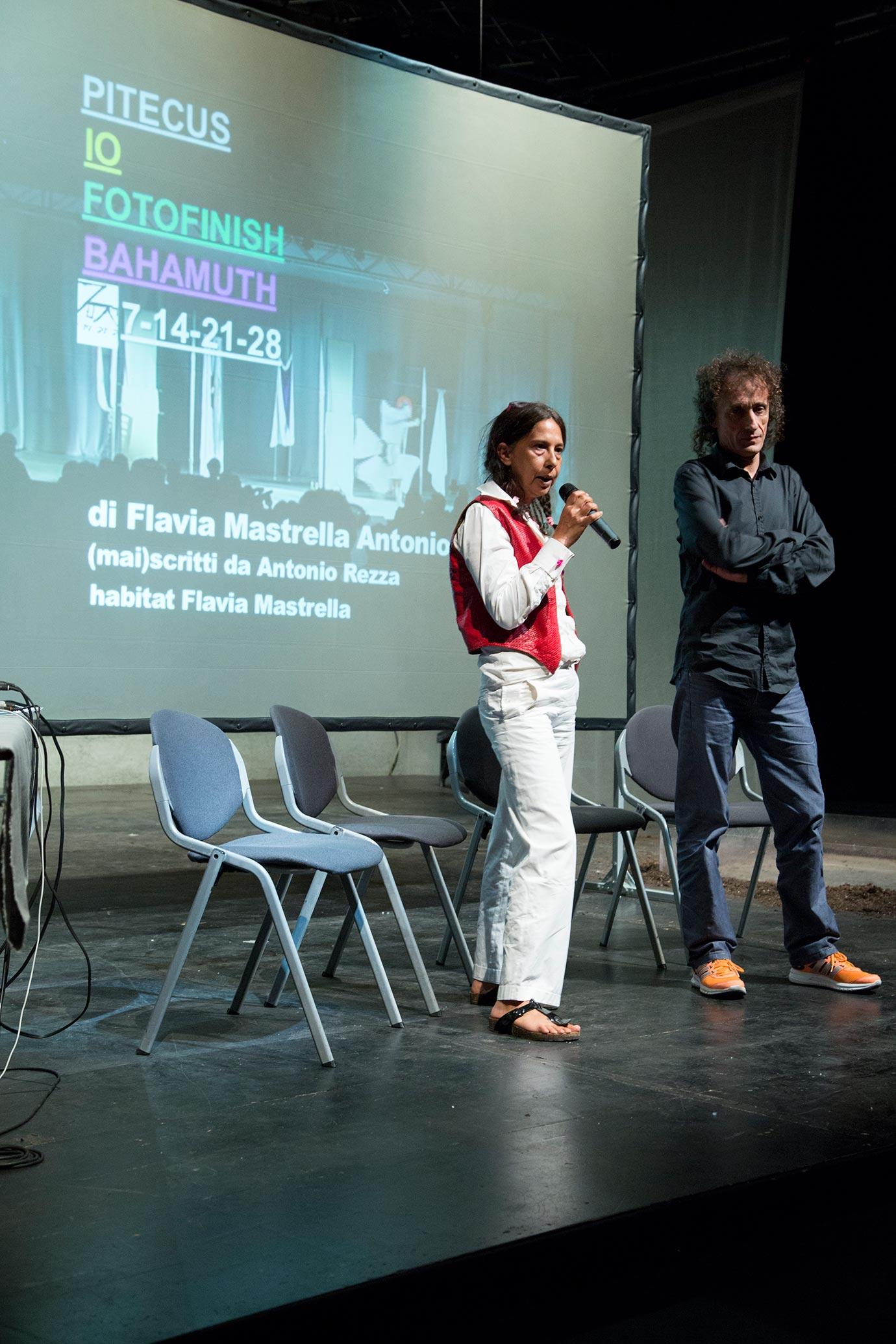 Flavia Mastrella and Antonio Rezza (Photo: Elena Sconfinetti)