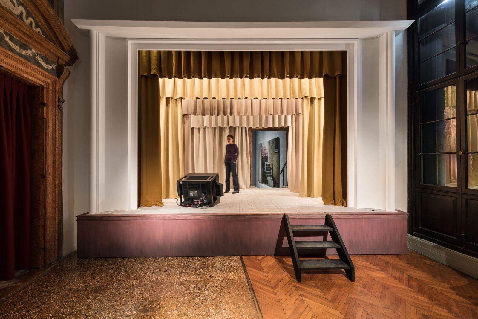 "Exhibition View, ""Stage"", 2017, Alexander Kluge  ""Terror = Furcht und Schrecken"", 2017, (Foto Delfino Sisto Legnani und Marco Cappelletti Courtesy Fondazione Prada)"