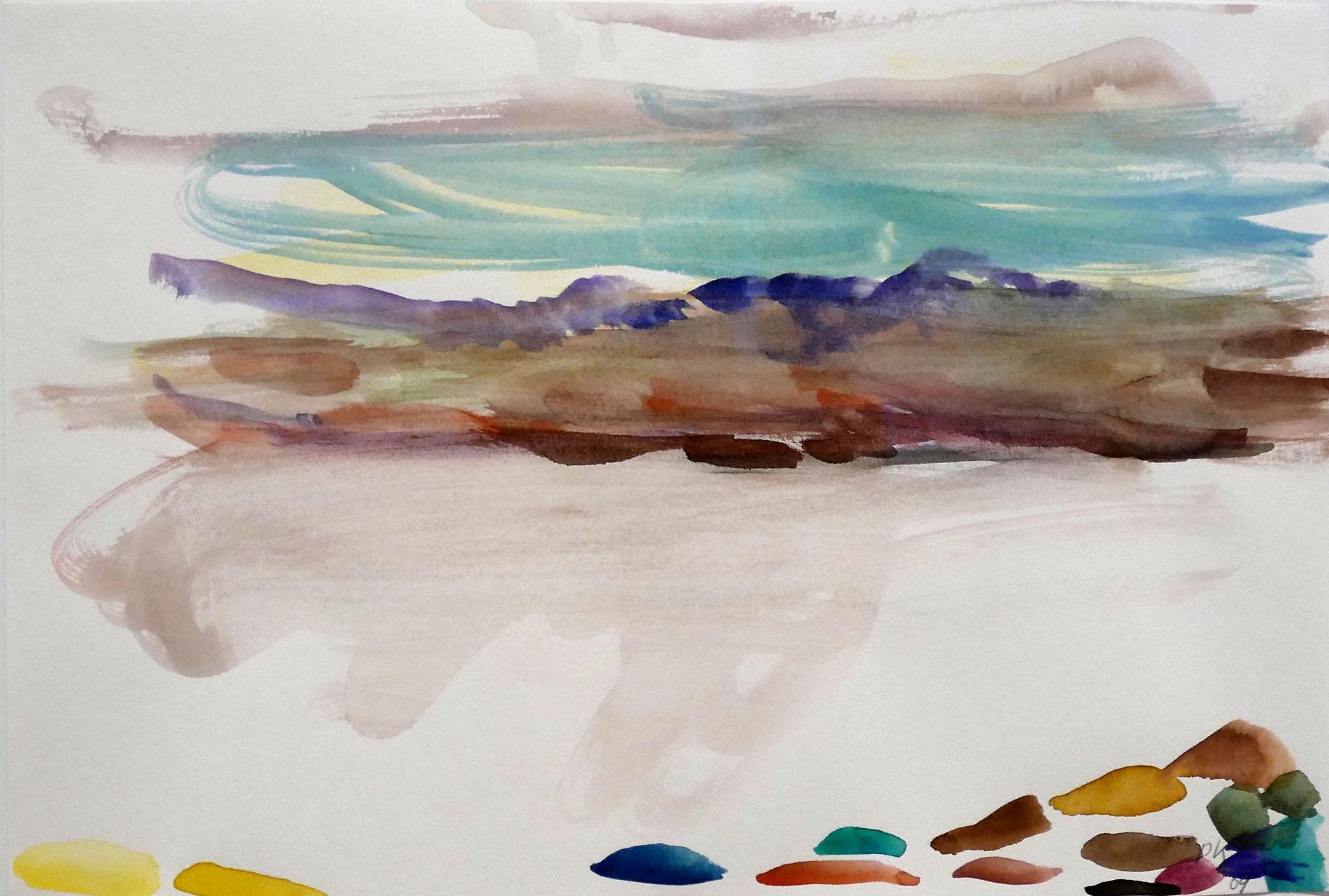 Per Kirkeby, Ohne Titel (Grönland), 2009, Gouache auf Papier