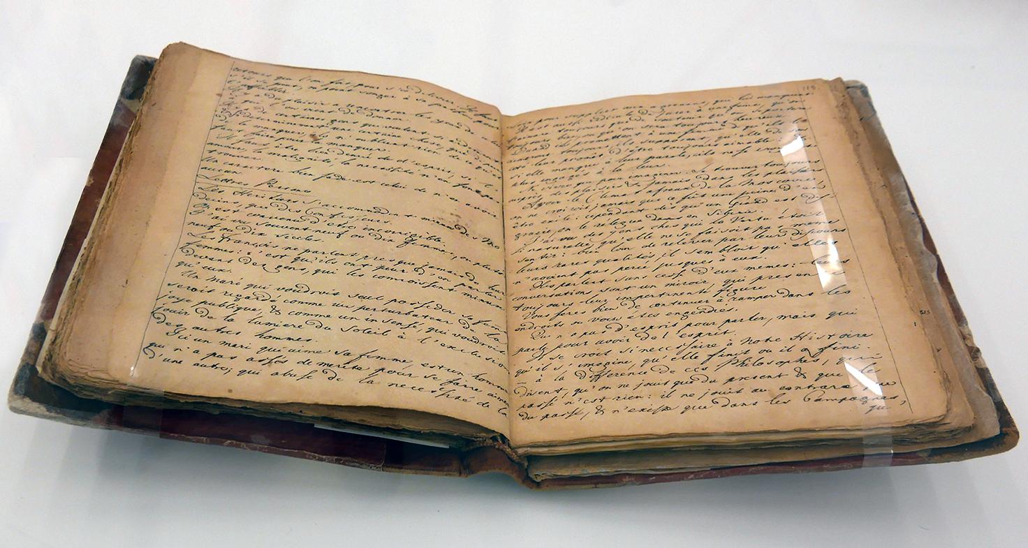 """Manuskript des unveröffentlichten dritten Bandes der """"Monumenti antichi indediti"""" von J.J. Winckelmann"""