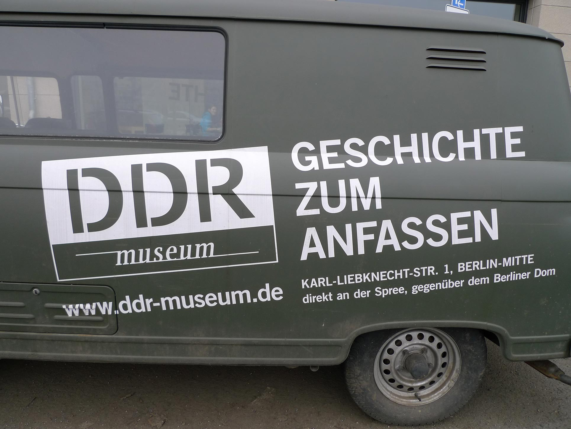 The VW-Bus of the DDR Museum,