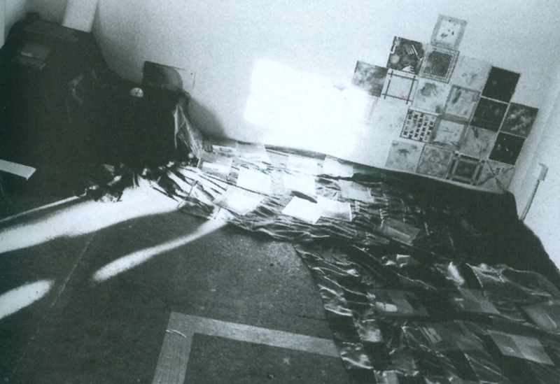 Ephemeriden, 6x8-8, 1994.Tatjana Trouvé installs a flea market with peaces out of the artist studios in the ProjektRaum-house as well as of invented artists, in order to think about the relationship between art production and art market.