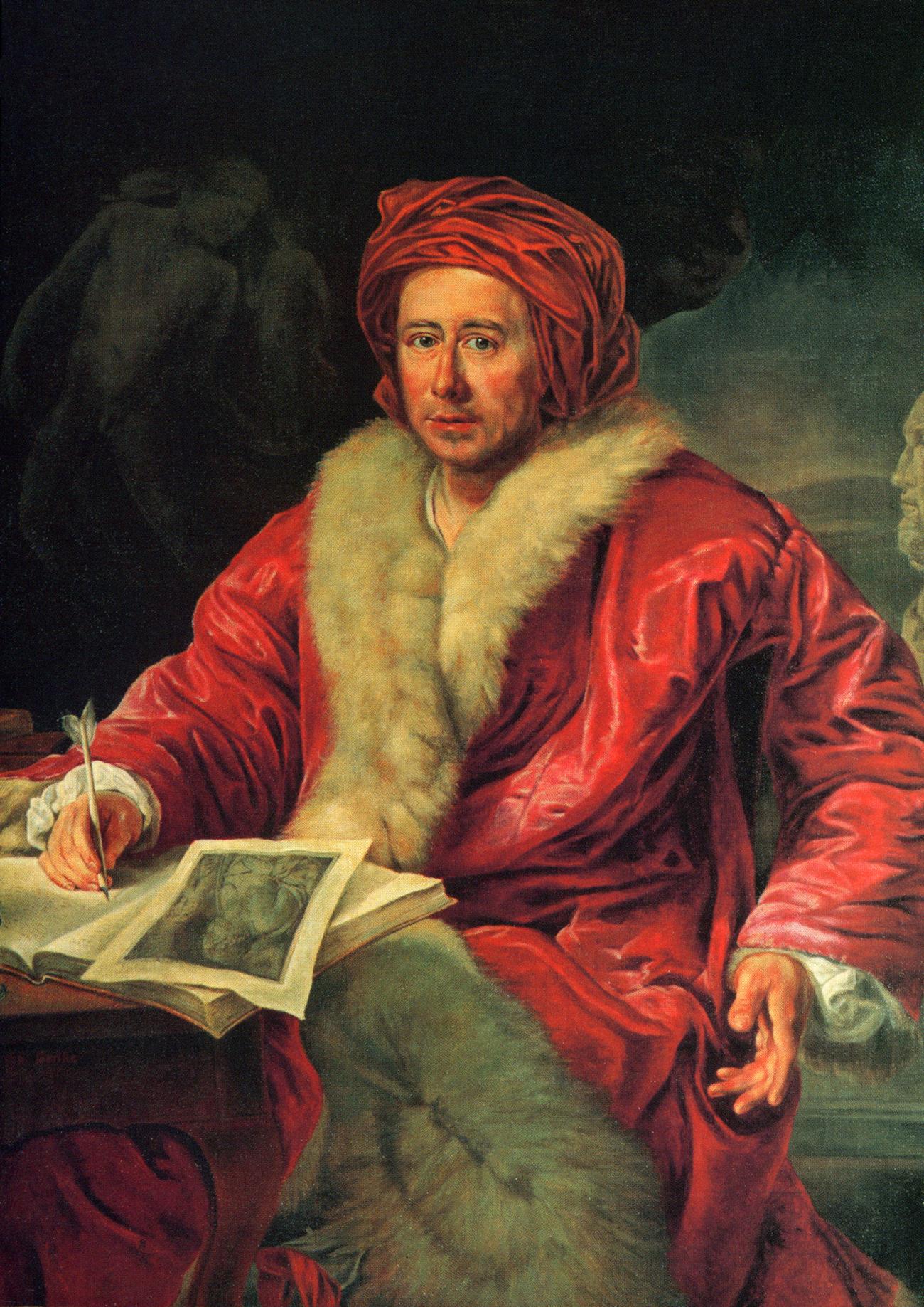 Anton von Maron, Porträt von J.J. Winckelmann, 1768, Kopie von Otto Gerike, 1956, Öl auf Leinwand, Winckelmann Museum, Stendal