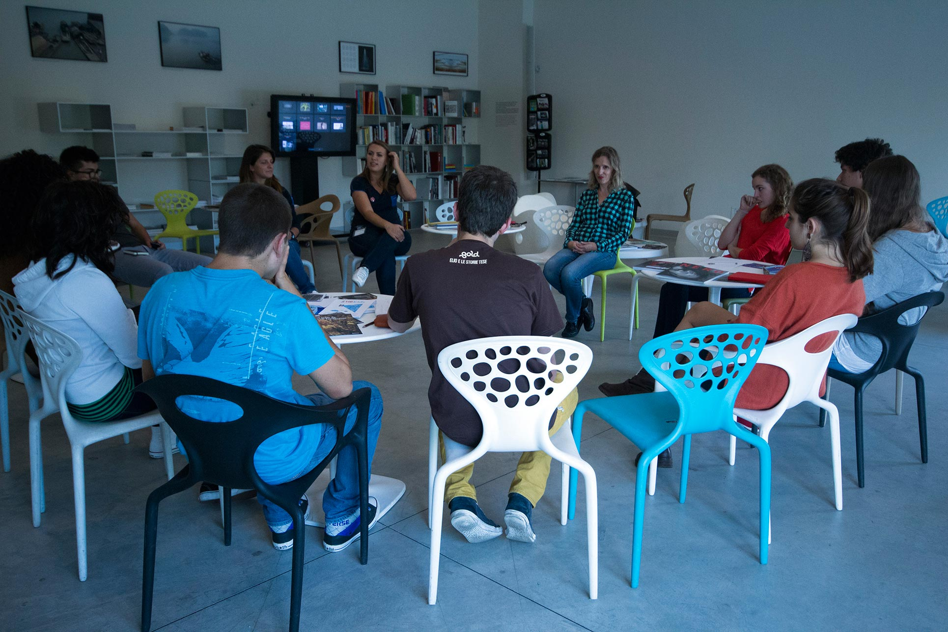 Year 12, Aesthetic Experience in Art Reception, Hangar Bicocca, discussion with Art Tutors about