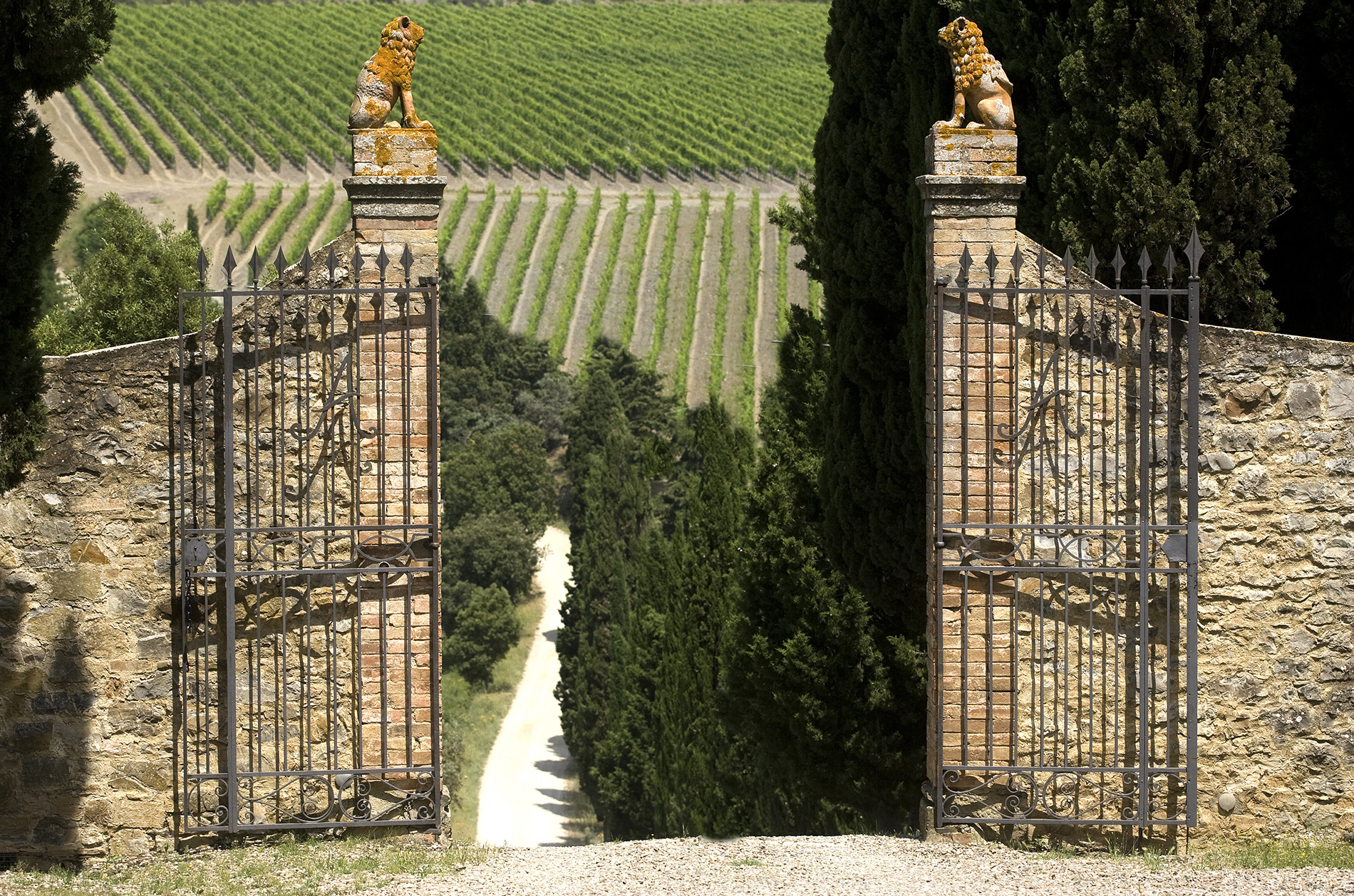 CastelGiocondo der Familie Frescobalidi in Montalcino
