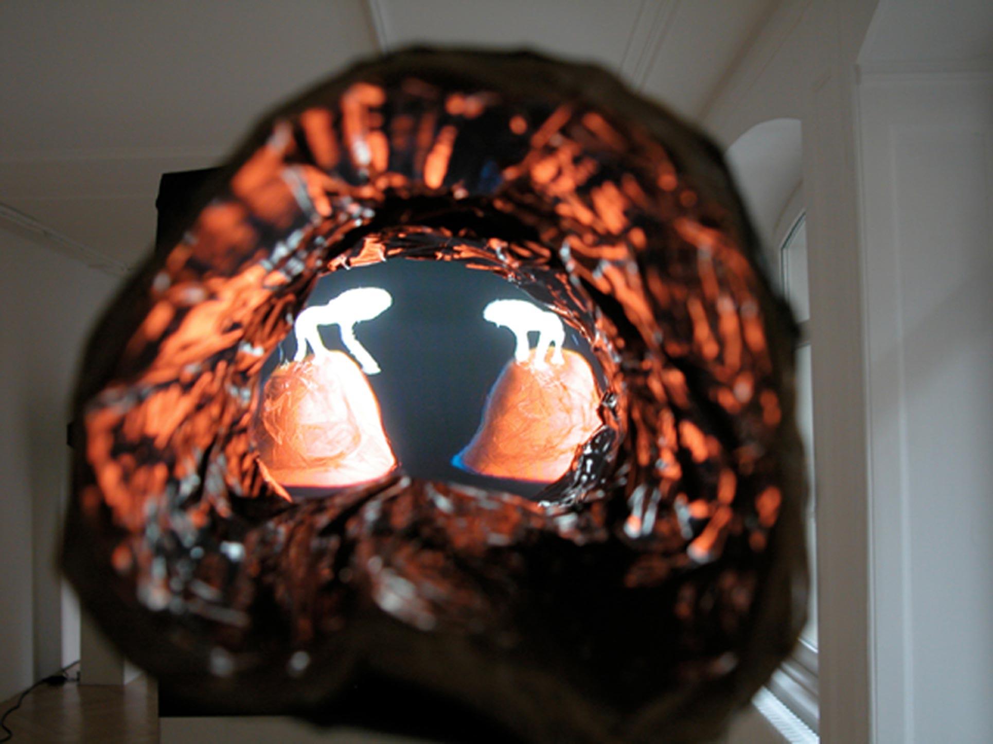 Marusic & Helbling, video still: Chimären in Black Fire, 2004